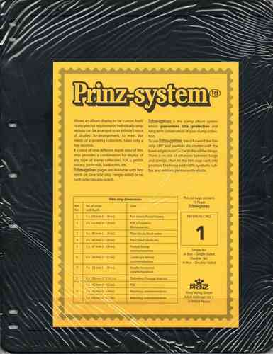 Prinz System single sided 1 strip pages per 10