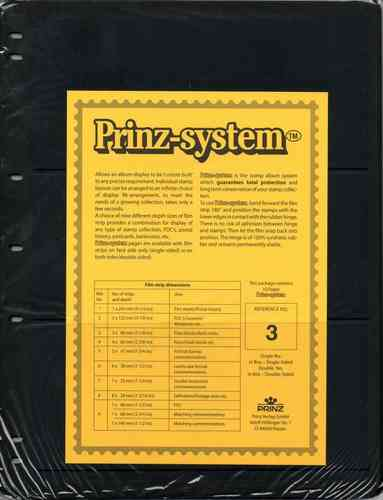 Prinz System single sided 3 strip pages per 10