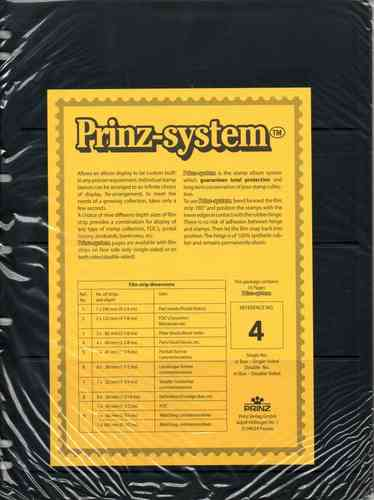 Prinz System single sided 4 strip pages per 10