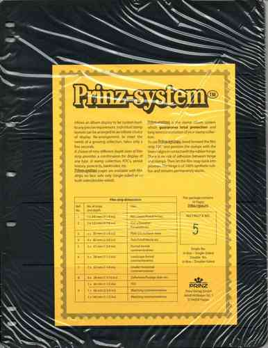 Prinz System single sided 5 strip pages per 10