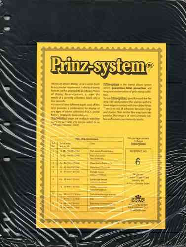 Prinz System single sided 6 strip pages per 10