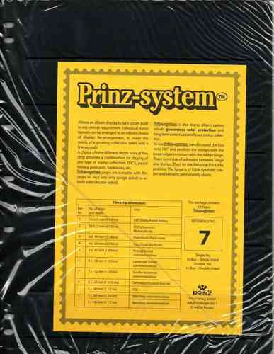 Prinz System single sided 7 strip pages per 10