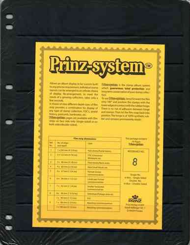 Prinz System single sided 8 strip pages per 10
