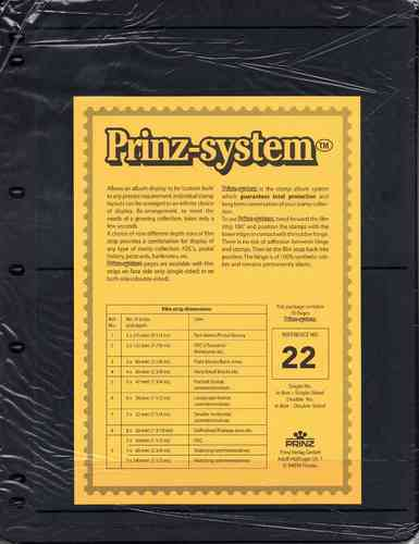 Prinz System double sided 2 strip pages per 10