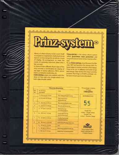 Prinz System double sided 5 strip pages per 10