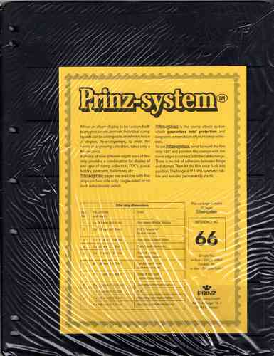 Prinz System double sided 6 strip pages per 10