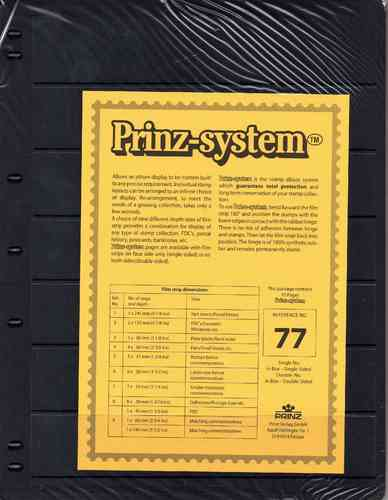Prinz System double sided 7 strip pages per 10