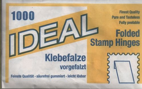 Ideal Folded Stamp Hinges per pack of 1,000