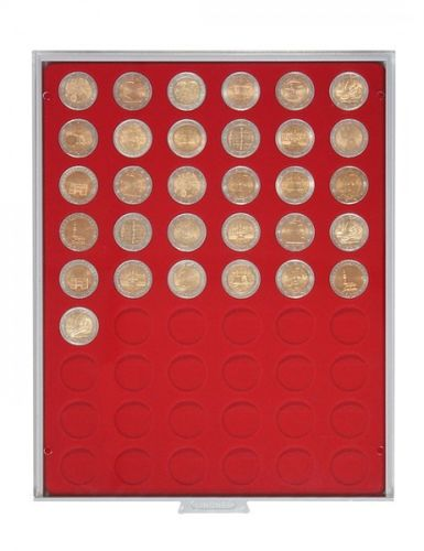 Lindner Coin box 54 round compartments each 25.75mm