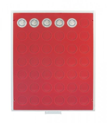 Lindner Coin box 42 round compartments each 27.5mm