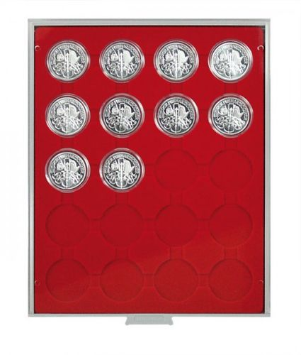 Lindner Coin box 20 round compartments for capsules each up to 44mm